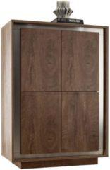 Pesaro Mobilia Opbergkast SKY 146 cm hoog - Cognac bruin