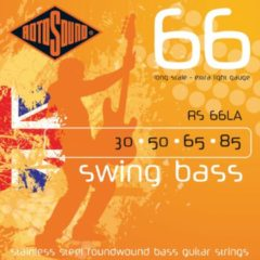 Rotosound Bas snaren RS66LA, 4er 30-85 Swing bas 66, Stainless Steel