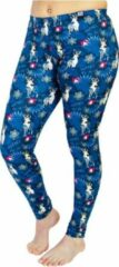 ZUMPREMA Foute kerst legging - Donkerblauw Mysterious deer