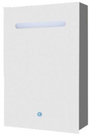 Afbeelding van Douche Concurrent Spiegelkast Aluma 60x80x15cm Aluminium Geintegreerde LED Verlichting Touch Lichtschakelaar Stopcontact Binnen en Buiten Spiegel
