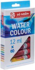 Talens Art Creation Water Colour set 8 kleuren 12 ml tubes aquarel aquarelverf transparante waterverf