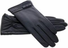 IMoshion Zwarte echt lederen touchscreen handschoenen - Maat L