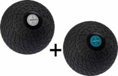 Zwarte Fitness Avento Slam Bal met Profiel 4 & 6 Kilo - Bundelpakket