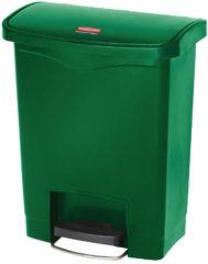 Groene Rubbermaid Slim Jim Front Step pedaalemmer 30ltr groen