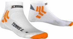 X-socks Tennissokken Silver Nylon/polypropyleen Wit Mt 45-47
