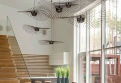 Roze Petite Friture Vertigo Hanglamp - Large - Zwart