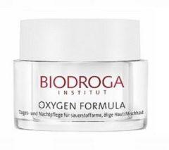Biodroga Gesichtspflege Oxygen Formula 24h Pflege für sauerstoffarme, ölige Haut/Mischhaut 50 ml