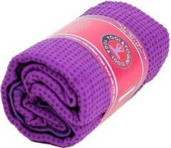 Yogi & Yogini Yoga handdoek PVC antislip paars (183x65 cm)