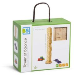BS Toys behendigheidsspel Tower of Balance 65 cm blank