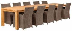 Van Kooten Tuin en Buitenleven Teak dinner tafel Solide Rustiek | Tafel L400xB100xH80 cm