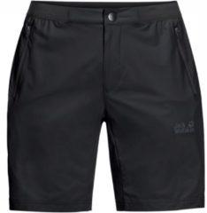 Jack Wolfskin korte outdoor broek zwart