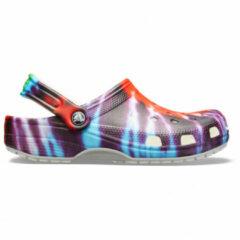 Crocs - Classic Tie Dye Graphic Clog - Sandalen maat M6 / W8, purper