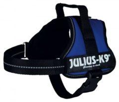 Blauwe Julius k9 power-harnas voor hond / tuig voor voor labels blauw mini/51-67 cm
