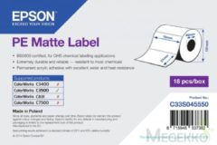 Witte Epson PE Matte Label - Die-cut Roll: 76mm x 51mm, 535 labels