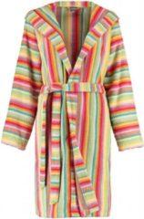 Cawö korte dames badjas badstof met capuchon multicolor maat 40