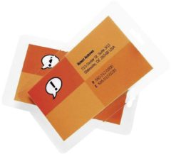 GBC 100 GBC POUCH CREDIT CARD 125 MIC lamineerfolie 86 x 54 mm, Creditcard 100 stuks