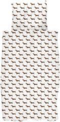 Witte Snurk James dekbedovertrekset van biologisch katoen 160TC - inclusief kussenslopen