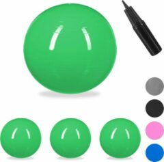 Relaxdays 4x fitnessbal 65 cm - gymbal - zitbal - yogabal - pilatesbal - pompje - groen