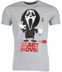 Grijze T-shirt Korte Mouw Mascherano T-shirt - Scary Movie