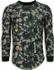 Justing 23th US Army Camouflage Shirt - Long Fit Sweater - Groen Heren Sweater L