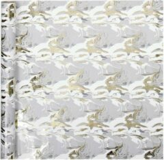 Gift Deco Inpakpapier Swirl 300 X 50 Cm Grijs