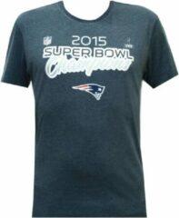 Blauwe New Era Superbowl Champion Tee Patriots American Football T-shirt Maat S