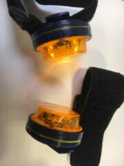 Oranje SAFEWAYS LED richtingaanwijzer voor fietsers (2 stuks in verpakking)