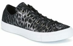 Zwarte Lage Sneakers Converse CHUCK TAYLOR ALL STAR SHIMMER SUEDE OX BLACK/BLACK/WHITE
