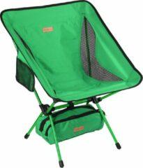Campking Compact Campingstoel - Groen - ultralicht en opvouwbare campingstoel in een tas, buitenstoel opvouwbaar - voor buiten, kamperen, picknicken, wandelen