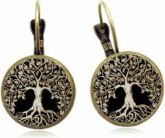 Betoverende oorbellen Tree Of Life Night Semyco® - Mandala - Oorhangers - Yoga hanger - Spirituele sieraden - Meditatie - Goudkleurig - Zwart - Vrouwen cadeautjes romantisch - Moeder cadeau