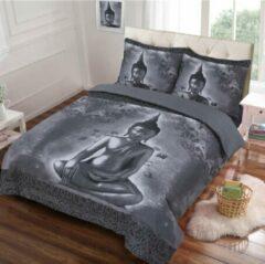 Cotton Club Dekbedovertrek Buddha Grijs 2-Persoons Lits-jumeaux 240x200/220 cm