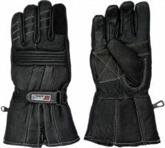 Zwarte 3M Thinsulate Leren Winter Motorhandschoenen Maat 2XL