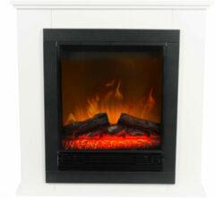 Classic Fire Sfeerhaard Lugano - Led - Realistisch Vuureffect - 1800 Watt - Zwart/ Wit