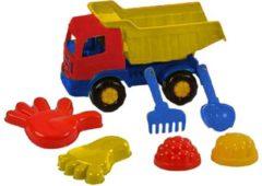 Polesie Toys Polesie Strandset Met Kiepwagen 7-delig Blauw/geel/rood
