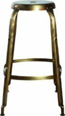 JD Design Barkruk goud H75cm