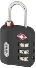 Zwarte Abus 147TSA/30 - Hangslot speciaal voor reizen in Amerika - Bagageslot