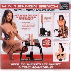 Zwarte Lovebotz Bangin Bench 4-in-1 Sex Machine