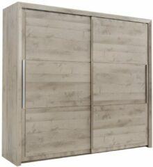 Gamillo Furniture Schuifdeurkast Sarlat 241 cm breed in donker eiken