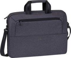 Antraciet-grijze Riva Case RivaCase 7730 - Laptop Schoudertas - 15.6 Inch - Antraciet