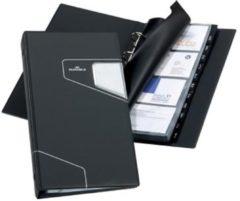 Zwarte Durable Visitekaartenmap Visifix Pro formaat 145 x 255 mm voor 200 visitekaarten
