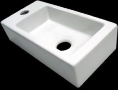 Douche Concurrent Fontein Mini Block Rechthoek Links 36x18x9cm Keramiek Glans Wit