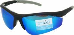 Grijze Nihao Tana Sportbril 1.1mm Polarized. TR-90 Ultra-Light frame Anti-Reflect coating.