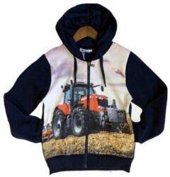 Donkerblauwe S&C tractor vest Massey Ferguson maat 146/152