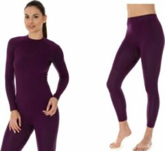 Paarse Brubeck | Dames Thermo Set - Thermokleding - met Nilit® Innergy - Violet - S