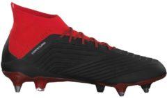 Fußballschuh Predator 18+ FG mit integriertem Strumpf adidas performance CBLACK/FTWWHT/RED