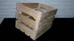 Bruine Merkloos / Sans marque Fietskrat hout