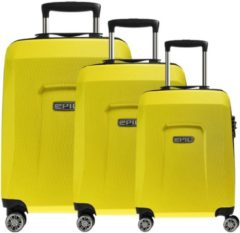 Beige Epic HDX Hexacore 4-Rollen-Trolley Set 3-tlg. yellowGLOW