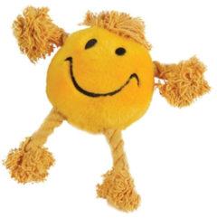 Happy pet happy faces pluche smiley geel 29X26X8 CM