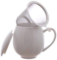 Witte Theemok met filter 350 ml - ChaCult Zaara wit