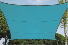 Lichtblauwe Merkloos / Sans marque Schaduwdoek - Zonnezeil - vierkant 3.6 x 3.6 m - hemelsblauw